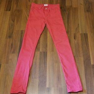 {Hudson} Pink Camo Skinny Jeans